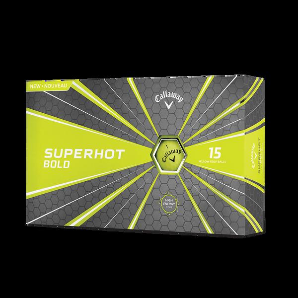 The Superhot Bold Matte Yellow 15-Pack Golf Balls Technology Item