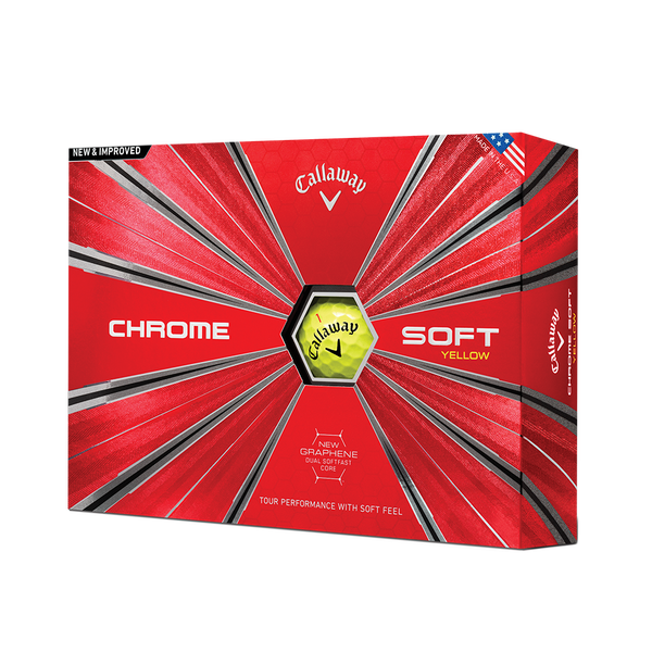 2018 Chrome Soft Yellow Golf Balls Technology Item