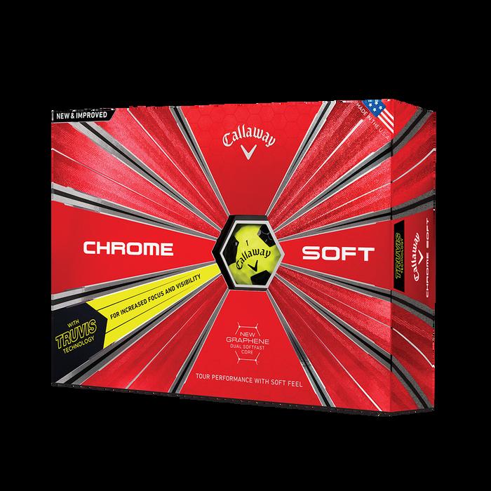 2018 Chrome Soft Truvis Yellow Golf Balls