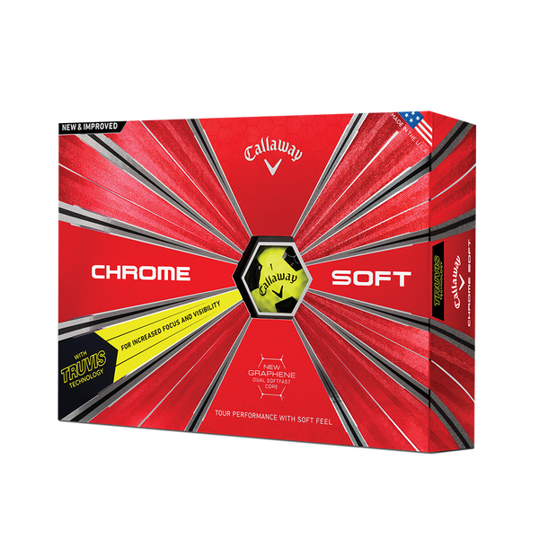 Chrome Soft Truvis Yellow Golf Balls Technology Item