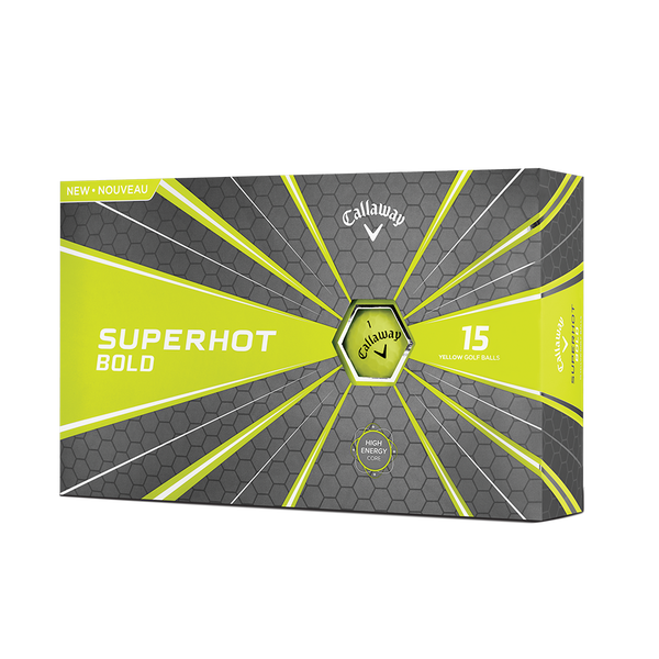 Superhot Bold Matte Yellow 15-Pack Golf Balls Technology Item