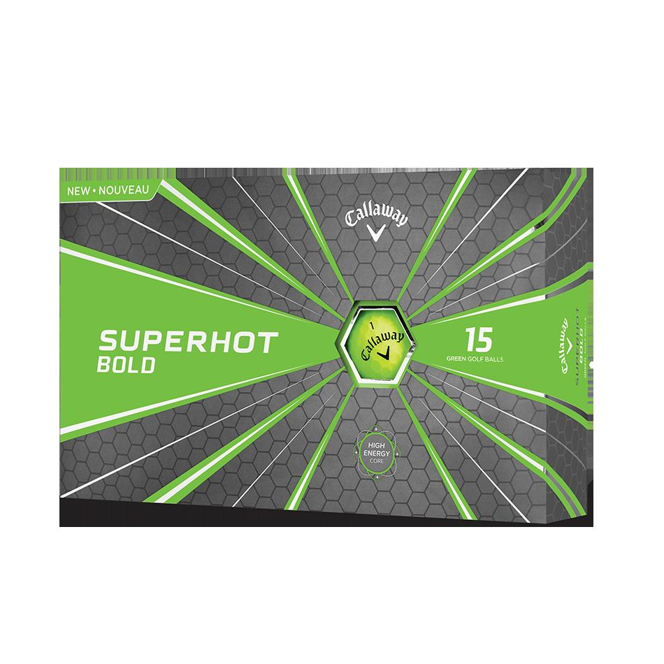 2018 Superhot Bold Matte Green 15-Pack Golf Balls - Featured