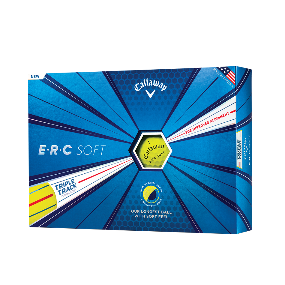ERC Soft Yellow Golf Balls - View 1