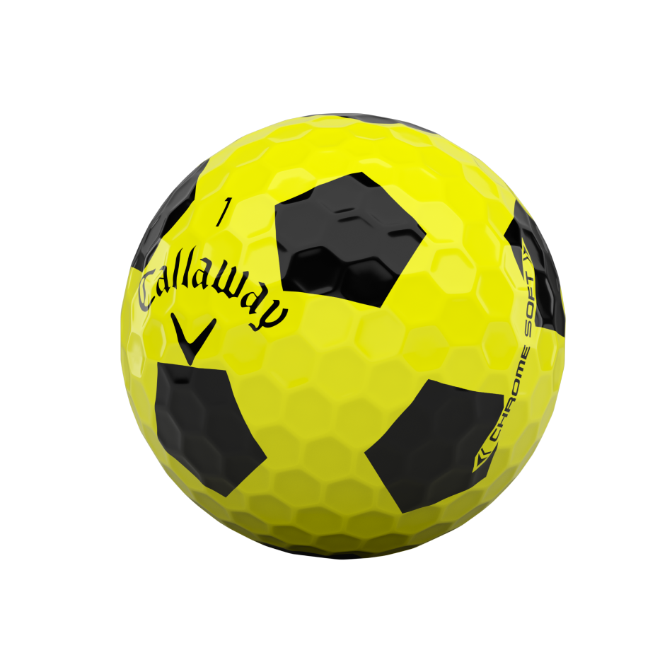 Chrome Soft Truvis Yellow Golf Balls - View 4